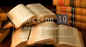 section 10 hindu marrige act 1955